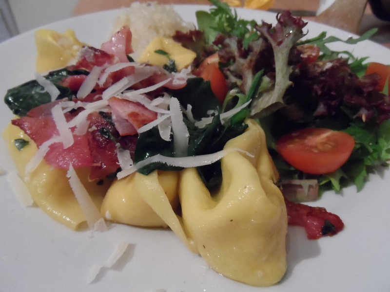 Fresh Pasta With Butter Thyme, Spinach & Bacon Recipe ...
