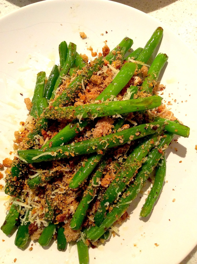 Green Beans with Pangrattato