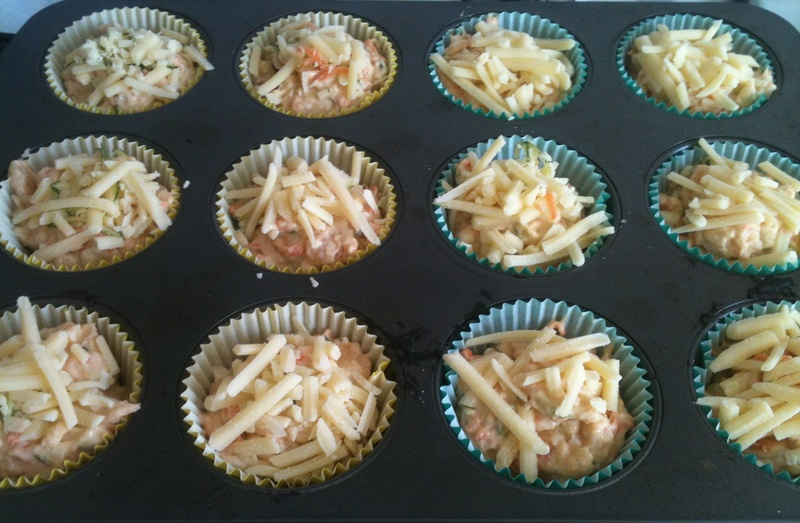 Vegetable, Cheese and Chutney Muffins