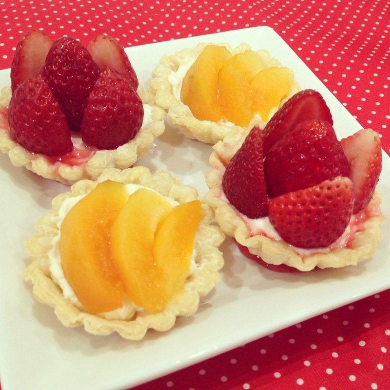 Strawberry & Apricot Cream Cheese Tart