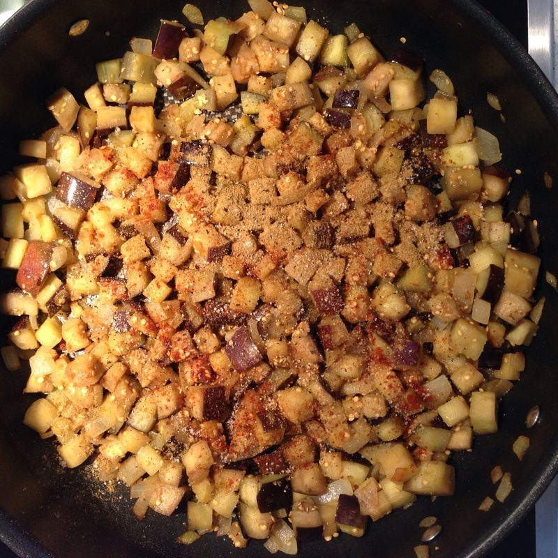 Couscous with Moroccan Eggplant & Lamb Roast