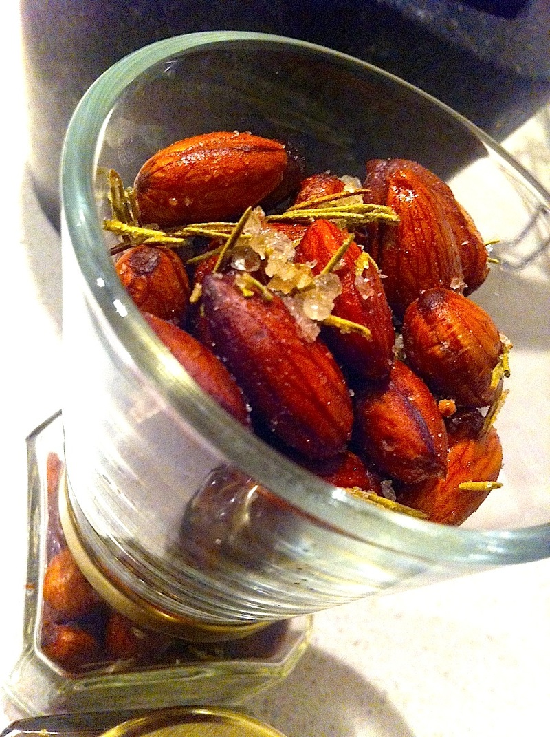 Roasted Almonds with Rosemary and Sea Salt