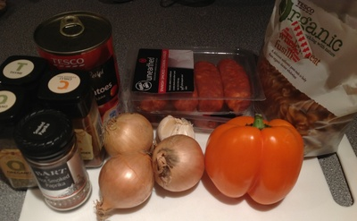 Chorizo ingredients