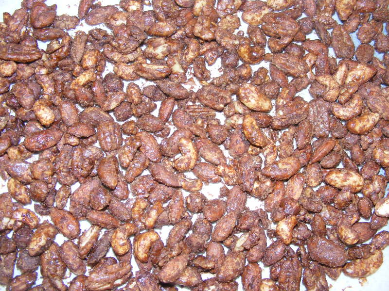 chocolate coated nuts