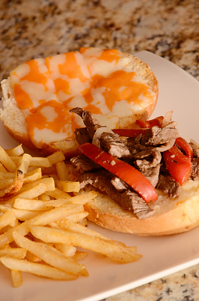 Garlic Cheese Steak Sandwich