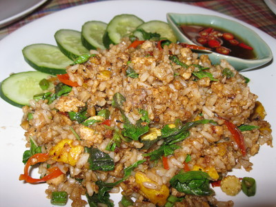 Pad Ka Pow, Stir Fried Rice with basil