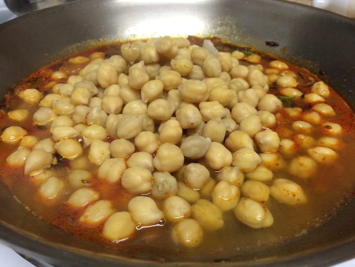 Add cooked chickpea