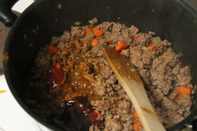 how to make savoury mince and rice