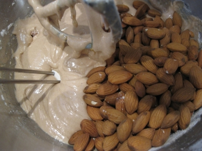 adding,almonds