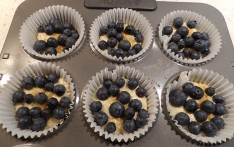 mixing,ingredients,for,rolled,oat,cakes  - Face on a Plate - Blueberry and Rolled Oats Brunch Cakes