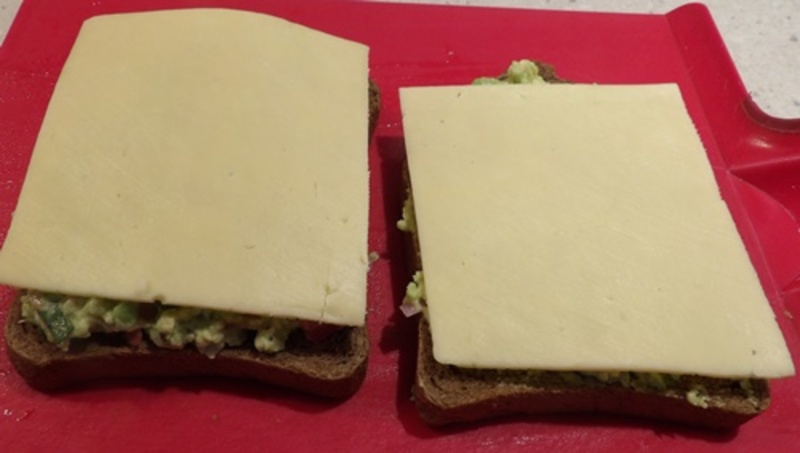 ingredients,chopped,up,for,avocado,egg,brunch  - Guacamole Grilled Cheese Toast with an Egg