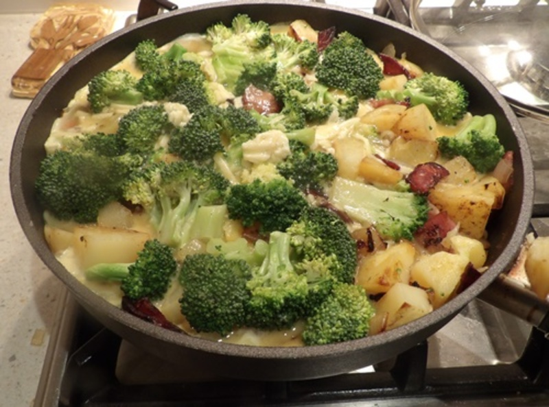 cooking,potatoes,for,frittata