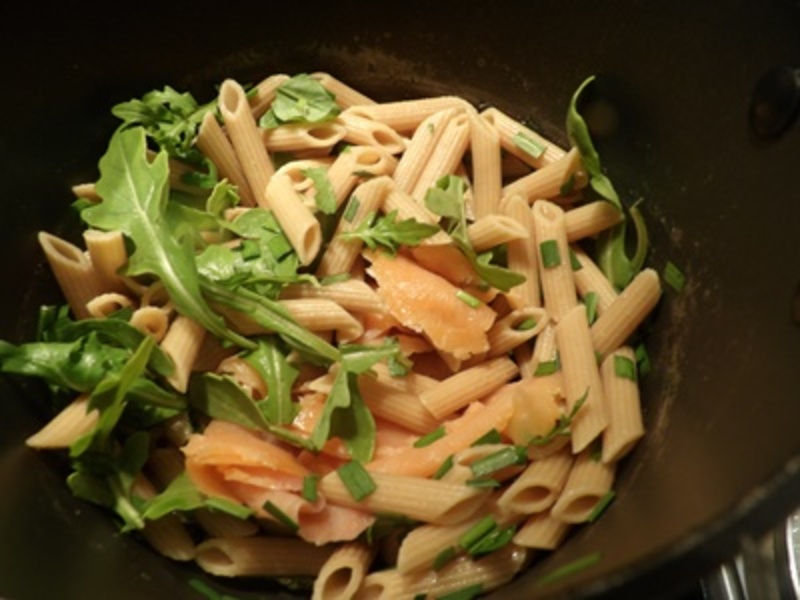 cutting,vegetables,for,smoked,salmon,pasta