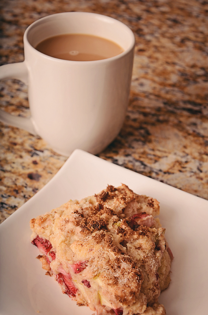 Apple Strawberry Scones