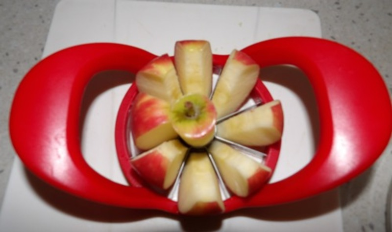 apple,corer  - Appetizer Of Apple, Blue Cheese And Pecans On Endive Leaves