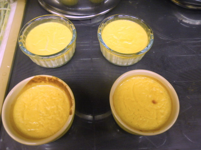 baked custard, water bath, ramekins