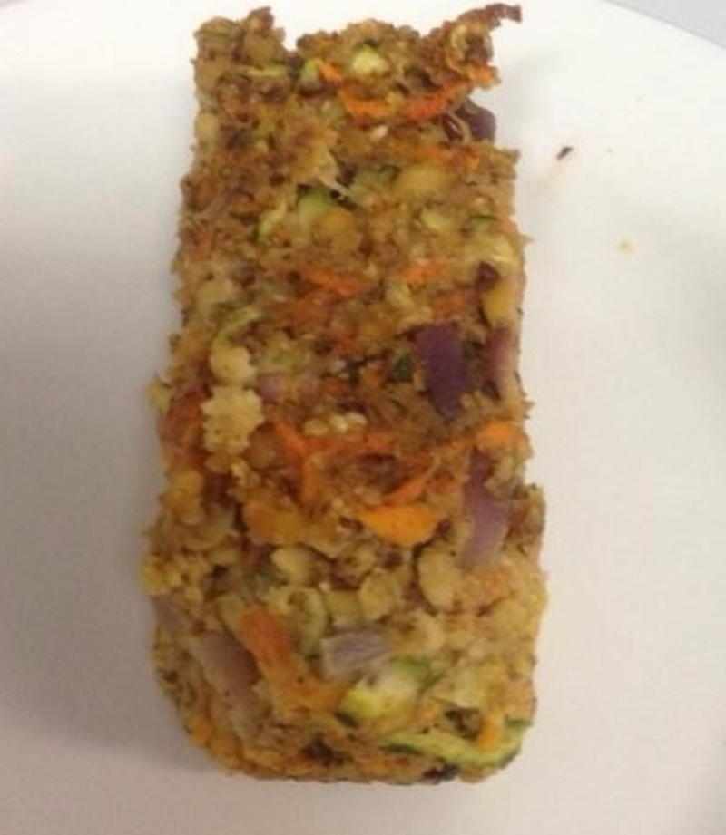 Unbaked loaf   - Vegetable Loaf with Soy Beans