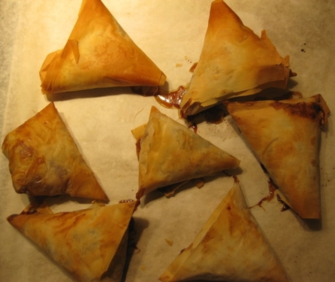 baked,apple,samosas