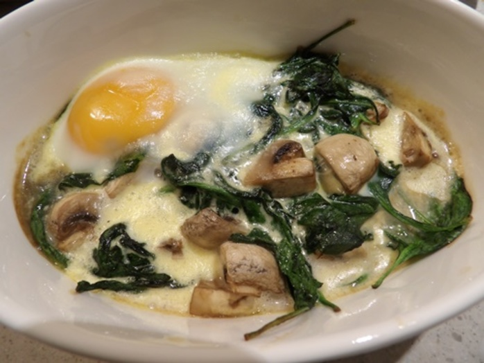 baked,spinach,mushrooms,and,egg