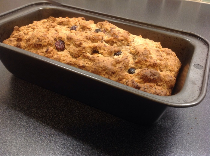 Banana bread, loaf tin