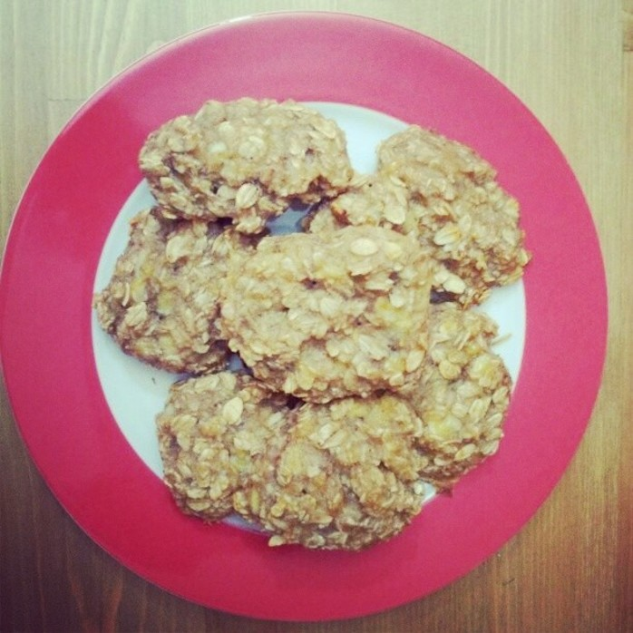 banana oatmeal cookie 1