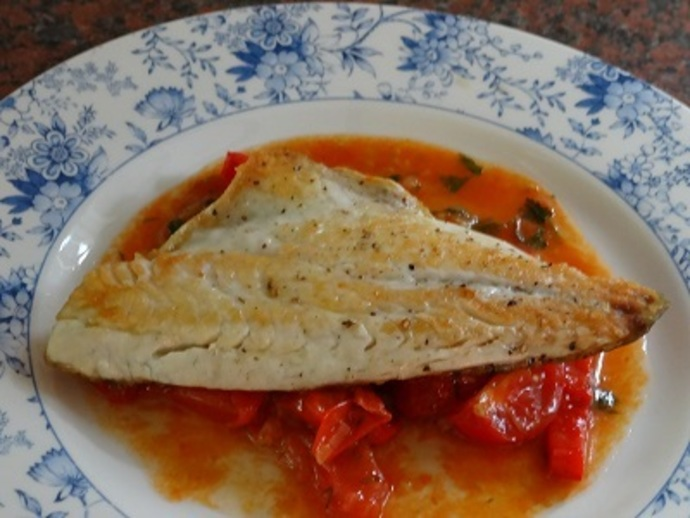 Bass, Tomatoes, Peppers
