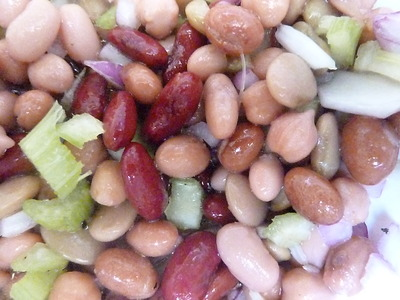 bean salad, five bean