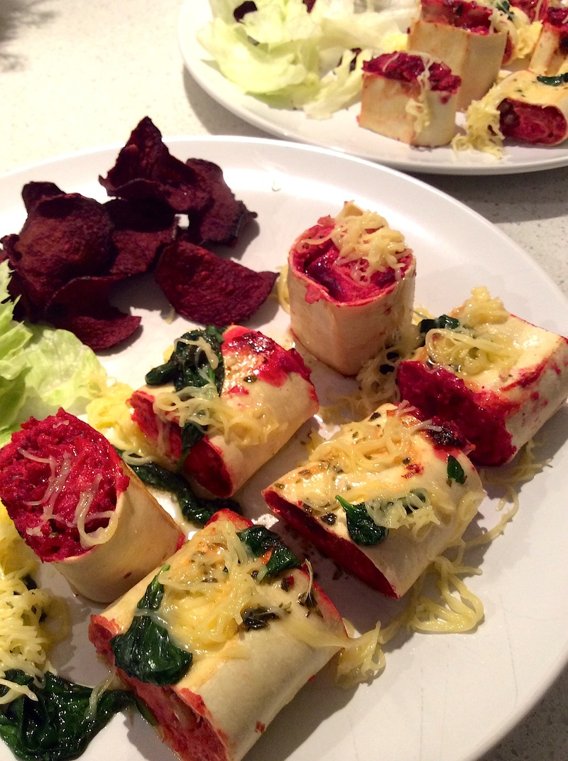 Beetroot Rotolo with Basil Butter