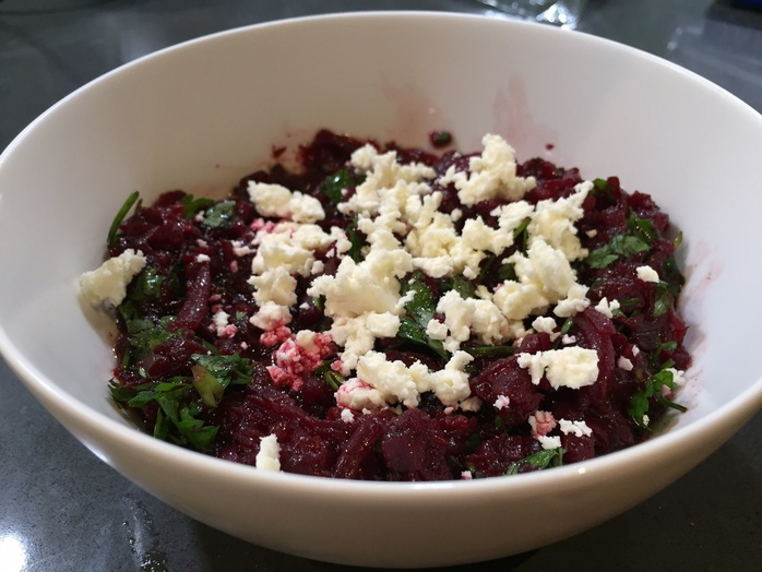 Beetroot, salad, feta, quick, easy