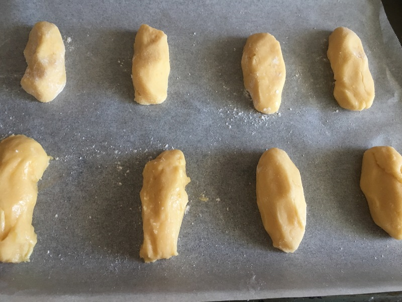 Biscuits ready to be baked  - Lemon Finger Biscuits