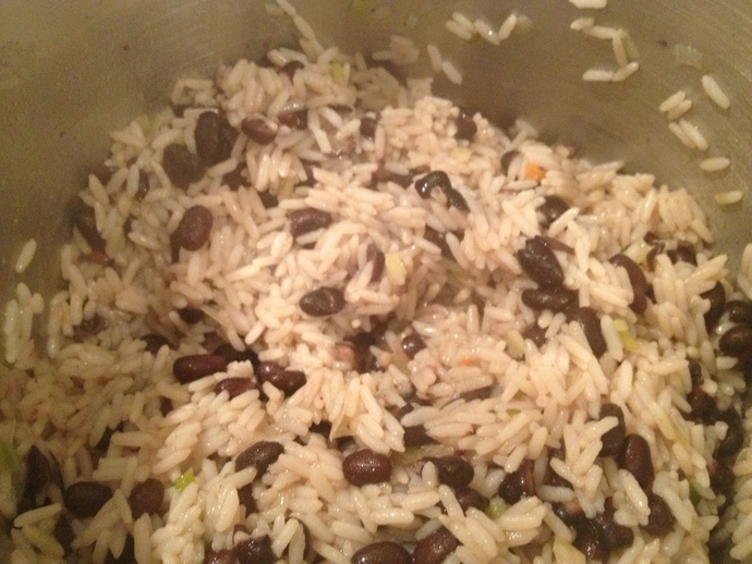 Black bean, rice