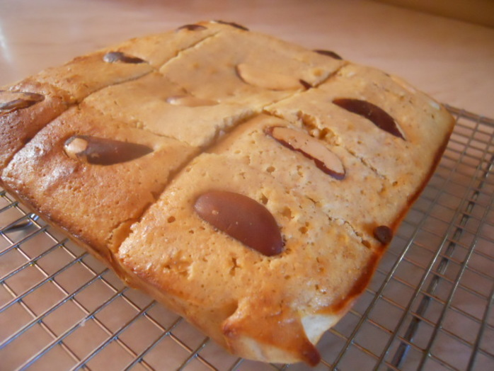 blondies, brazil nuts, coconut