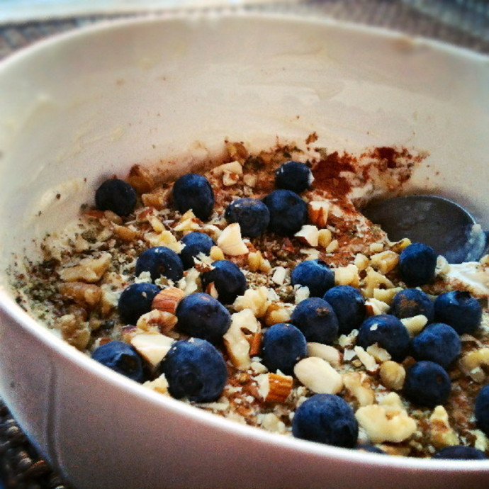 blueberries, breakfast recipe, yoghurt