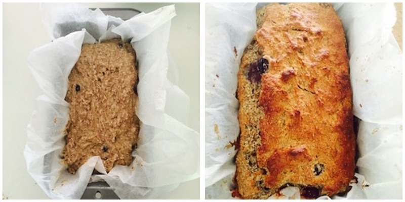 Blueberry And Banana Bread, Gluten Free Montage - Healthy Blueberry And Banana Bread, Gluten Free