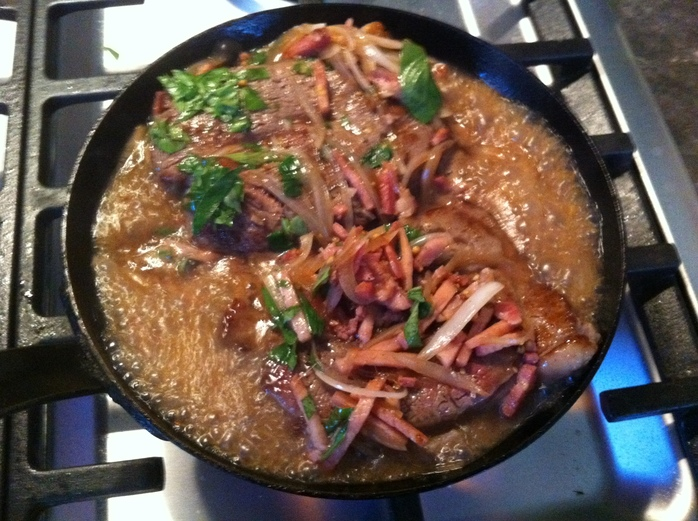 how to cook braising steak in a frying pan