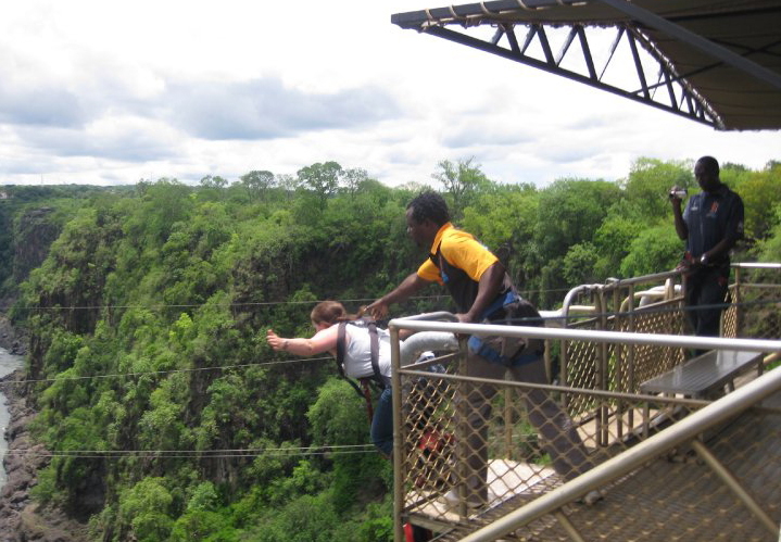 bungee jumping, zambize river, bungee jumping horror story, bucket list  - Bungee Jump at Victoria Falls