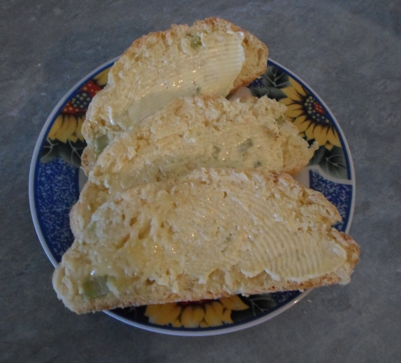 Buttered slices of Cheese and Celery Loaf  - Cheese and Celery Loaf