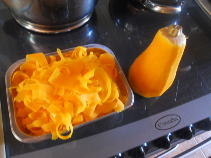 butternut squash shavings
