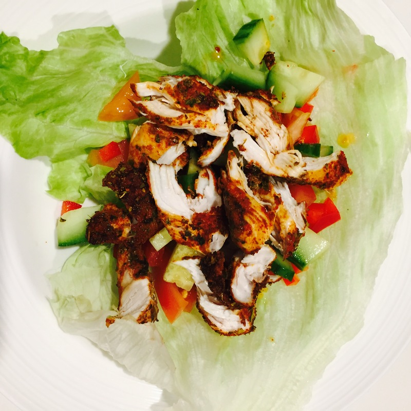Cajun Chicken Creole Rice Lettuce Cup