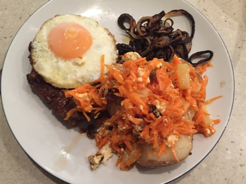 carrot,salad,with,steak,and,egg  - Carrot and Pineapple Salad