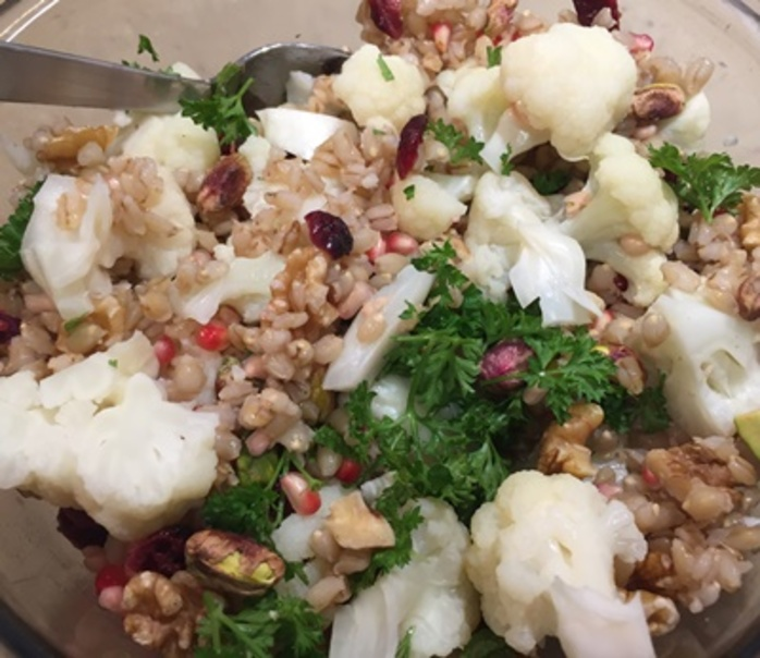 cauliflower,cranberry,and,pomegranate,salad