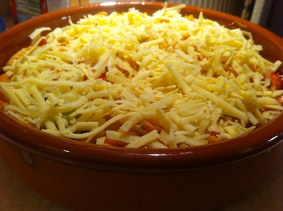 cheese, pasta bake, vegetables