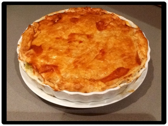 Chicken, Bacon and Leak Pie