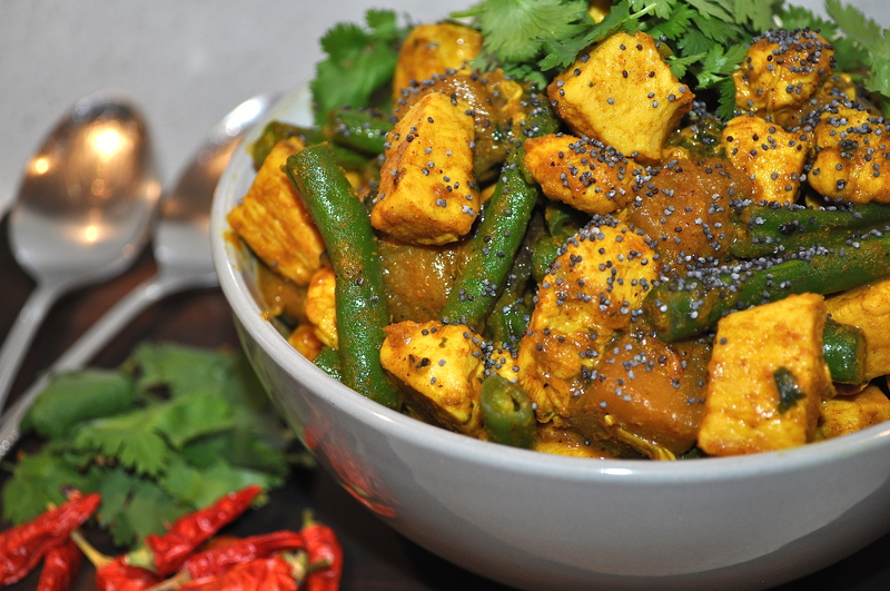 Chicken Green Bean Eggplant Curry