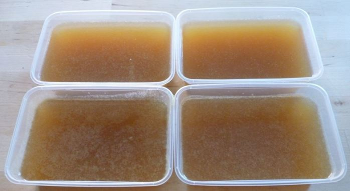 Chicken stock homemade flavour goodness freezer containers