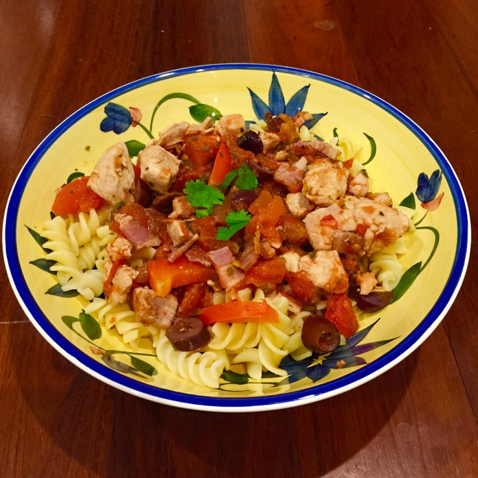 Chicken and bacon cacciatore