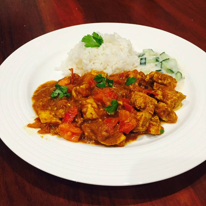 Chicken Madras With Raita