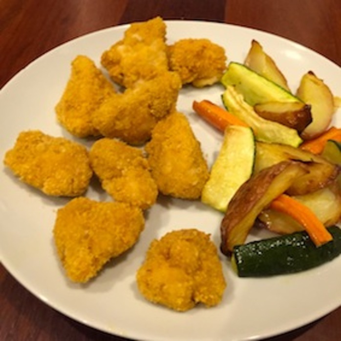 Chicken Nuggets Vegetable Wedges
