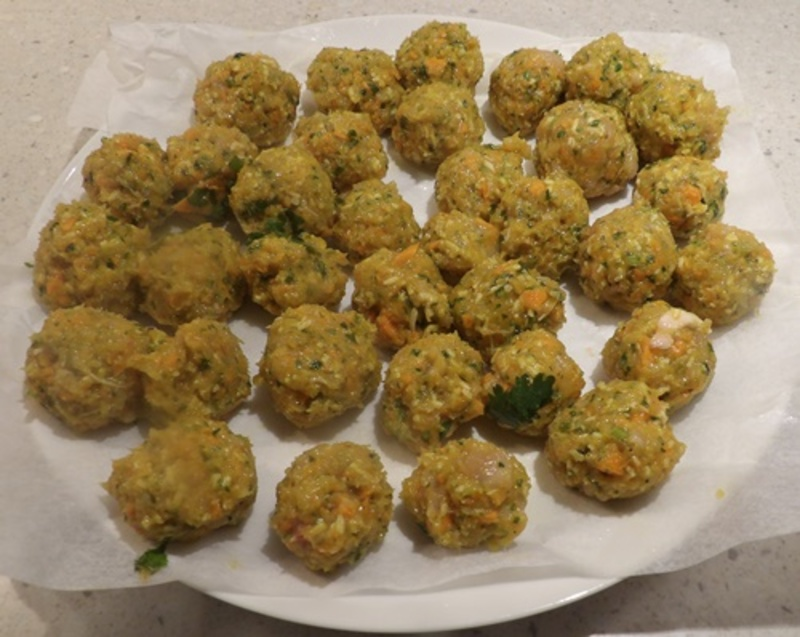 putting,all,ingredients,into,food,processor  - Coconut Curry Chicken Meatballs With Quinoa