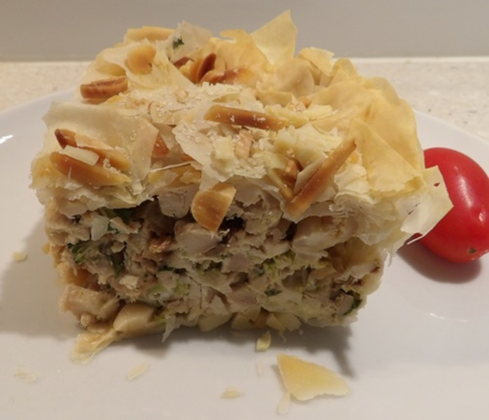 chicken,filo,pie,with,broccoli,almonds